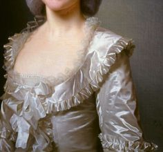 """Marie Jeanne Puissant"" (1781) (detail) by Alexander Roslin (1718-1793)."