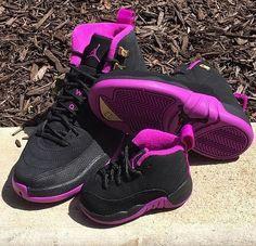 wholesale dealer 64c09 641ee Air Jordan Retro 12 s Violet Purple Infant Toddler Preschool Size 5C-3Y