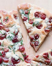 Rosemary Flatbread with Blue Cheese, Grapes & Honey (from Food & Wine)