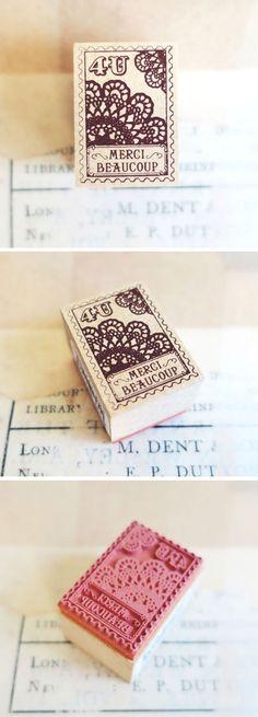 Tokyo Antique DOILY stamp    ※ rubber stamp  ※ size : 35 x 25mm  ※ B3525KI-D