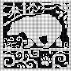 WitchWolfWeb Creations: Spirit Bear Chart.