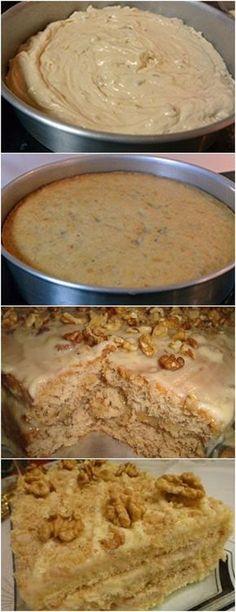 ESSE BOLO É MUITO ESPECIAL..(BOLO DE NOZES ❤️) VEJA AQUI>>>Na batedeira, coloque o açúcar, a manteiga (temperatura ambiente) e os ovos. Bata até obter um creme claro. Desligue e junte as nozes moídas, a essência, a farinha e o leite. #receita#bolo#torta#doce#sobremesa#aniversario#pudim#mousse#pave#Cheesecake#chocolate#confeitaria