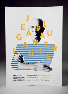ジャン=ポール・ゴルチエ、展示会告知のために作成した奇抜なポスター   AdGang