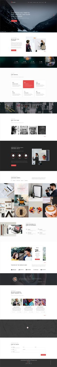 Userlab is clean and modern design #onepage PSD template for creative #business agency website to live preview & download click on Visit  #psdtemplates