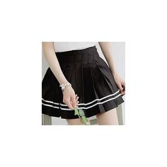 Contrast-Trim Pintuck Mini Skirt (37 NZD) ❤ liked on Polyvore featuring skirts, mini skirts, women, short skirts, black miniskirt, short mini skirts, black mini skirt and mini skirt