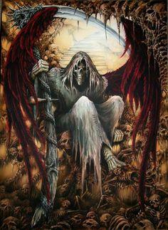 grim reaper angel of death - Bing images Death Reaper, Grim Reaper Art, Grim Reaper Tattoo, Don't Fear The Reaper, Arte Horror, Horror Art, Dark Fantasy Art, Dark Art, The Crow