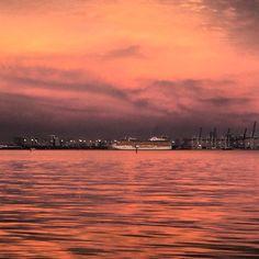 Biscayne Bay, Miami at dusk. No filter!