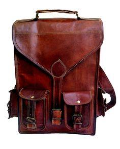 248e10ab3b85 13  Genuine Leather Vintage Laptop Backpack Shoulder Messenger Bag  Briefcase  gt  gt  gt