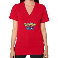 Pokemon GO V-Neck (on woman) Shirt