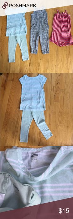 3 outfit bundle! Three great and easy outfits. All in excellent condition, green shirt has a small mark as seen in pics. Buy the bundle or make an offer for just one. Old Navy and Nautica. Old Navy Matching Sets
