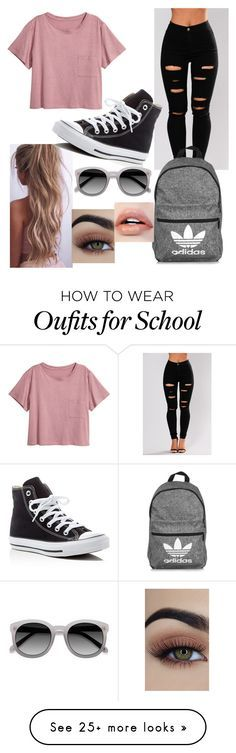 """""""Just a few more school outfits"""" by naomi-esperanza on Polyvore featuring adidas and Converse"""