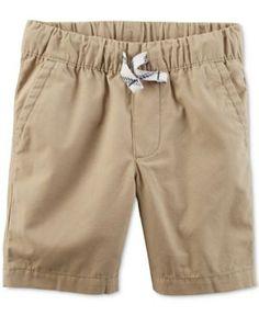 Carter's Woven Cotton Shorts, Toddler Boys (2T-5T) - Tan/Beige 3T
