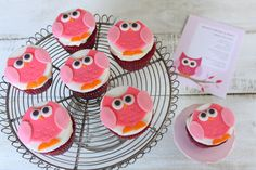 KIDS CUPCAKES | Tutorial: How to make Fondant Owl Cupcake Toppers
