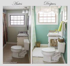 Antes y despu s de un ba o con vinilo impresionante pinterest suelos vinil y painting - Pintar azulejos de bano antes y despues ...
