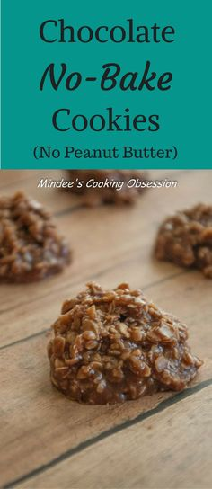 Chocolate No Bake Cookies- No Peanut Butter! No Coconut! Just moist chocolate no bake cookies to help you beat the summer heat! These cookies will disappear as fast as you make them! via @https://www.pinterest.com/mindeescooking/
