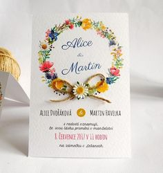 Svatební oznámení Alice Martin, Place Cards, Wedding Invitations, Place Card Holders, Party, Graduation, Wedding Ideas, Decor, Winter