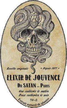 Les étiquettes à Didier / Labels halloween Didier - a Didier de Lacanau