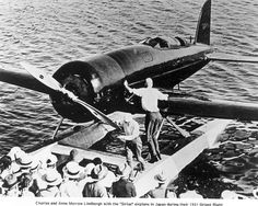 July 9, 1933: Flying their Lockheed Sirius built 1929 and used for the 1931 survey flight of Alaska, the North Pacific and China, Charles Lindbergh and his wife begin a major route-proving tour of the North and South Atlantic. They complete their survey on December 6.