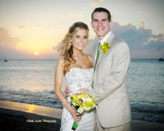 Another radiant sunset for a lovely couple's backdrop.