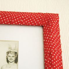 DIY – Fabric covered picture frame