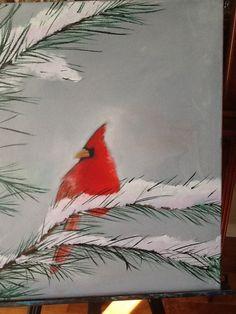 Cardinal # 14 oil Birds, Paintings, Oil, Bird, Painting, Draw, Portrait, Resim, Cooking Oil