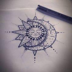 Resultado de imagen para sun and moon tattoos