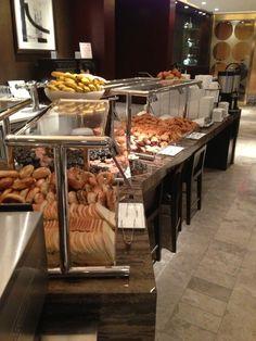 New York Hilton Midtown Executive Room Breakfast.  The coffee/hot chocolate machine is great.