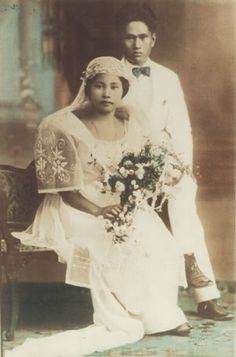 Old 1920s filipino wedding