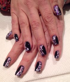 Ursula nails - The Little Mermaid