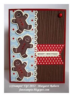 Scentsational Season, Teeny Tiny Wishes, Festival of Prints dsp stack, Woodgrain embossing folder, & Holiday Collection framelits. Thanks Margaret!