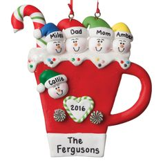 This Fun Personalized Family Ornament With Brighten Your Tree Personalized Family Ornaments Family Christmas