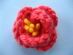 There are many gorgeous Spring flowers that inspire a little bit of floral hooky, but I'm especially fond of these Japanese Quince flowers. They aren't deadly accurate, but a pretty good representation and well, they are good enough for me. Crochet Flowers, Spring Flowers, Knit Crochet, Crochet Patterns, Japanese, Knitting, Crafts, Leaves, Amigurumi