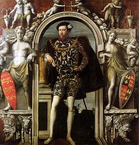 Henry Howard, Earl of Surrey,(1516/1517 – 19 January 1547), was an English aristocrat, and one of the founders of English Renaissance poetry. Eldest son of Thomas Howard, 3rd Duke of Norfolk, and his second wife, the former Lady Elizabeth Stafford. Henry VIII. had Surrey imprisoned - with his father - sentenced to death on 13 January 1547, and beheaded for treason on 19 January 1547.