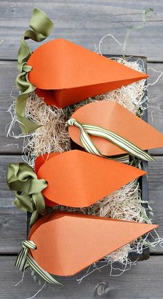 Free Printable Carrot Easter Treat Boxes