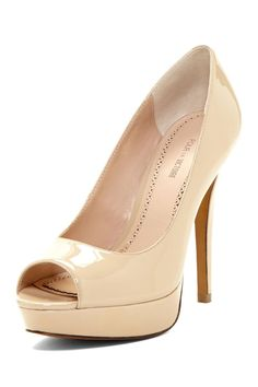 Ivanka Trump Tatiana Peep Toe Pump. Want some like this for my future bridesmaids someday.