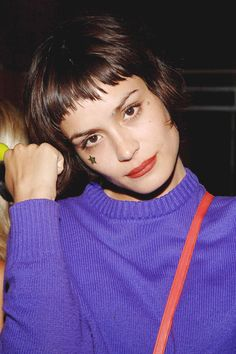 The DJ/model/actress pulled off her itty-bitty asymmetrical bangs for years, becoming the poster child for glam hipsters everywhere. Getty Images  - ELLE.com