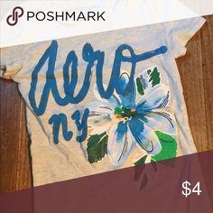 Aero Aeropostale xs top shirt flower Cute! Aeropostale Tops Tees - Short Sleeve