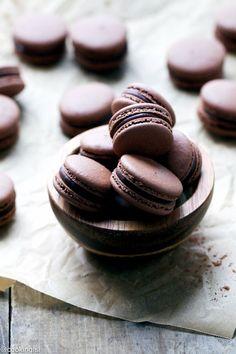 Chocolate Macarons With Chocolate Peppermint Ganache Recipe
