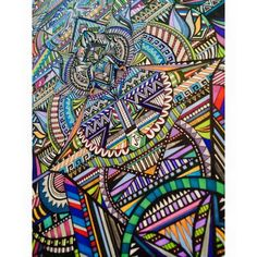 19 Year Old Young Artist, Tania Yasmin, Spends Hours Creating Colorful Geometric Drawings   Bored Panda