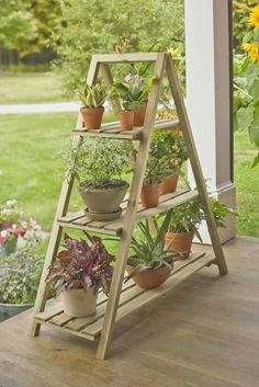 Once you've designed your garden, pick the plants that you want to grow during each season. There's no better solution than to bring a vertical garden. Lets see this Lovely Minimalist Vertical Garden For Your Home Backyard! Indoor Garden, Indoor Plants, Outdoor Gardens, Home And Garden, Outdoor Pots, Outdoor Plant Stands, Outdoor Ideas, Plant Shelves Outdoor, Small Balcony Garden