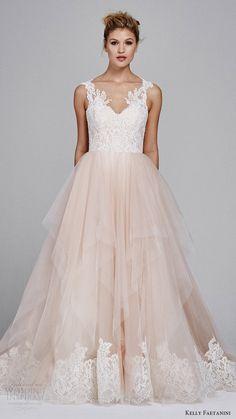kelly faetanini fall 2017 sleeveless sweetheart lace bodice aline wedding dress (azalea) mv blush skirt lace hem