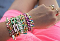 "The Embellished | 15 ""Summer Camp Style"" Friendship Bracelets You Can Make Right Now"