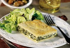Campbell's Spinach & Feta Pie Recipe - substitute a vegetarian cream soup for the cream of Chicken soup to make it Vegetarian.