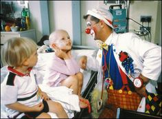 A hospital clown; Children are 'scared of hospital clowns'
