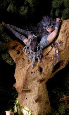 Cheshire Cat Fae by Nichole West West Art, Polymer Clay Dolls, Creepy Dolls, Expo, Fairy Art, Fairy Dolls, Collector Dolls, Ooak Dolls, Ball Jointed Dolls