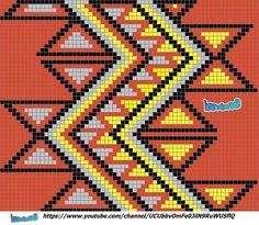 """The location where building and construction meets style, beaded crochet is the act of using beads to decorate crocheted products. """"Crochet"""" is derived fro Tapestry Crochet Patterns, Crochet Stitches Patterns, Loom Patterns, Beading Patterns, Cross Stitch Patterns, Knitting Patterns, Mochila Crochet, Bag Crochet, Crochet Purses"""