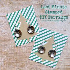 Last Minute Metal Stamped Earring Tutorial! #makeitwithmadge #handmadeholidays #DIYJewelry