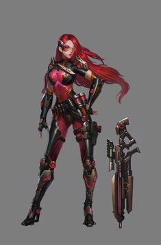 ArtStation - 科幻女枪手, Wei Wei1989
