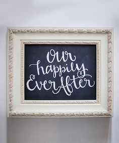 Look at this 'Happily Ever After' Faux Chalkboard Wall Art on #zulily today!