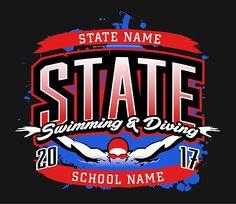 10 Best Swim & Dive T-Shirt Designs images | Swimming diving ...